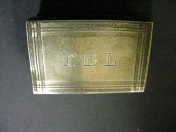 3009: STERLING MATCH BOX HOLDER