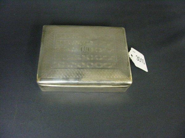 3010: 900 SILVER ITALIAN CIGARETTE BOX