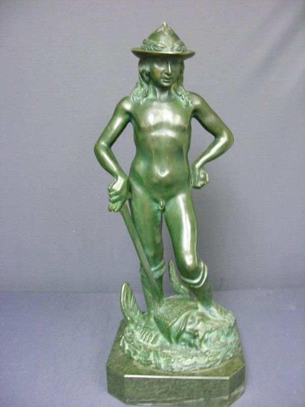 CONTEMPORARY BRONZE SCULPTURE ON MARBLE