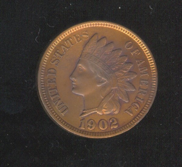 3505: 1902 U.S. INDIAN HEAD CENT