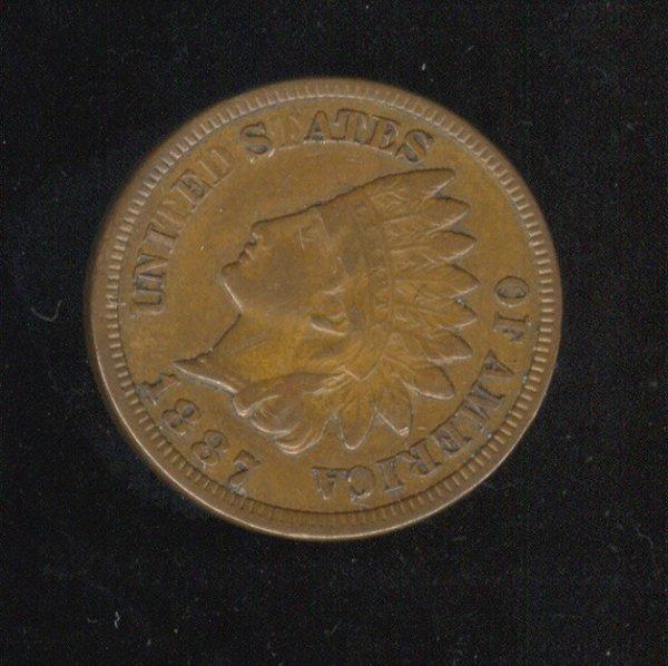 3509: 1887 U.S. INDIAN HEAD CENT