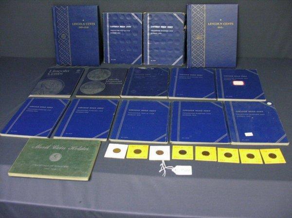 3522: 15 BOOKS U.S. LINCOLN HEAD CENTS