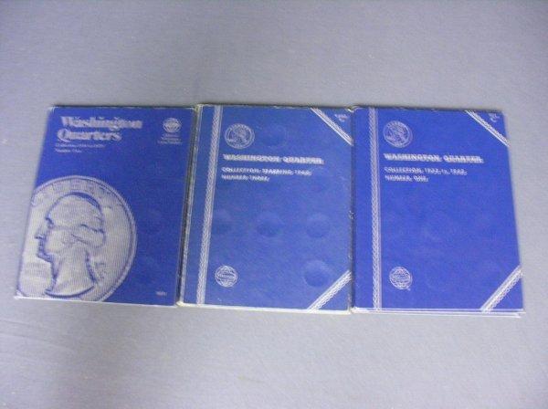 3523: 3 BOOKS U.S. QUARTERS