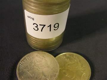 3719: 20-1922-D U.S. SILVER PEACE DOLLARS