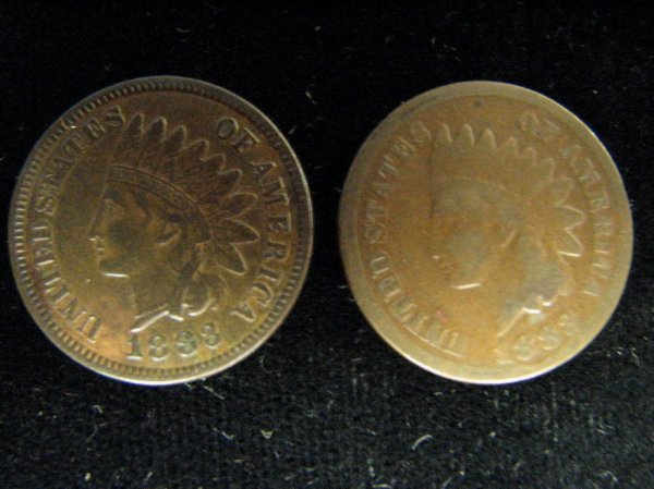 3799: 2 1883 U.S. INDIAN HEAD CENTS