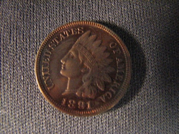 3801: 1891 U.S. INDIAN HEAD CENT