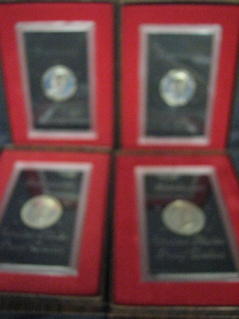 3814: 4 1972-1975 U.S. EISENHOWER PROOF DOLLARS