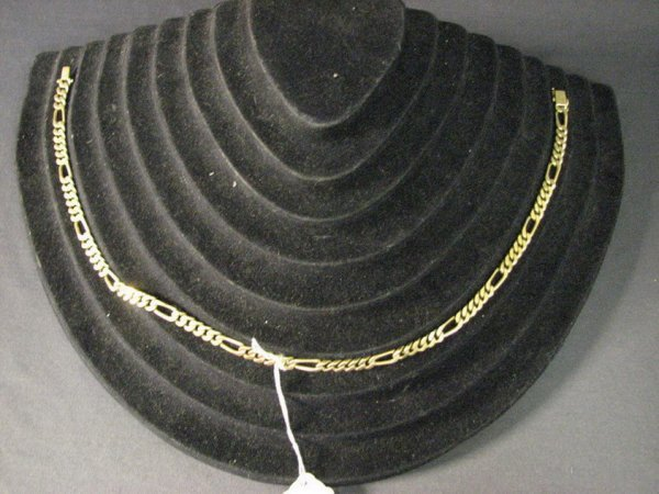 3924: 21 INCH HEAVY 14K GOLD NECKLACE