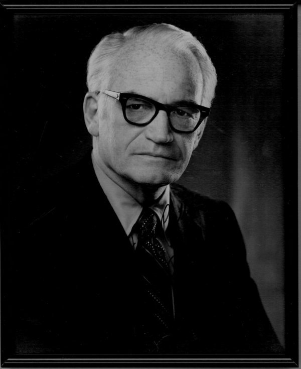 4115: BARRY GOLDWATER AUTOGRAPHED PHOTO