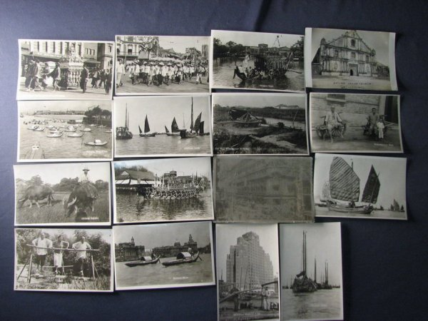 4126: 16 WWII CHINESE PHOTO POSTCARDS