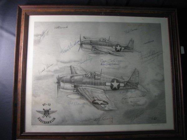 4140: TERRY SOUTH VF-13 U.S.S. FRANKLIN PRINT