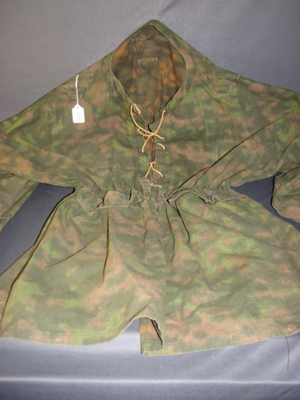 4445: REVERSIBLE MILITARY CAMOUFLAGE PULLOVER SMOCK