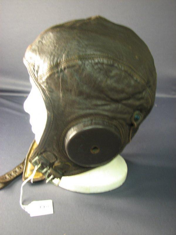 4482: WWII U.S. LEATHER FLIGHT CAP - 2