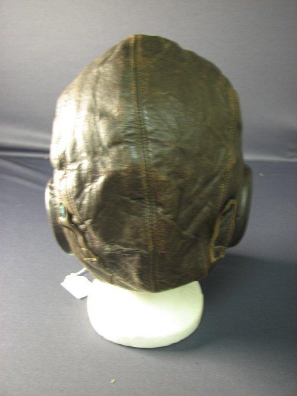 4482: WWII U.S. LEATHER FLIGHT CAP - 3