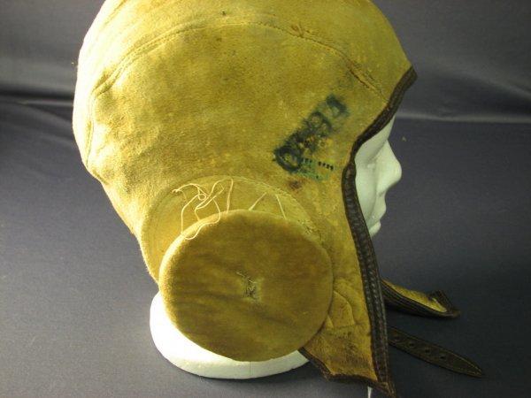 4482: WWII U.S. LEATHER FLIGHT CAP - 5