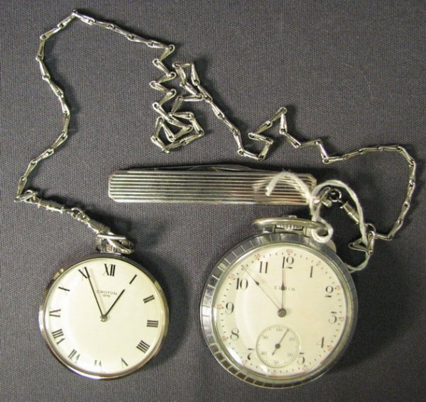 4518: ELGIN AND CROTON POCKET WATCHES