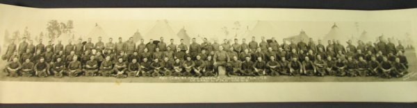 5021: 1918 WWI U.S. MILITARY YARD LONG PHOTOGRAPH