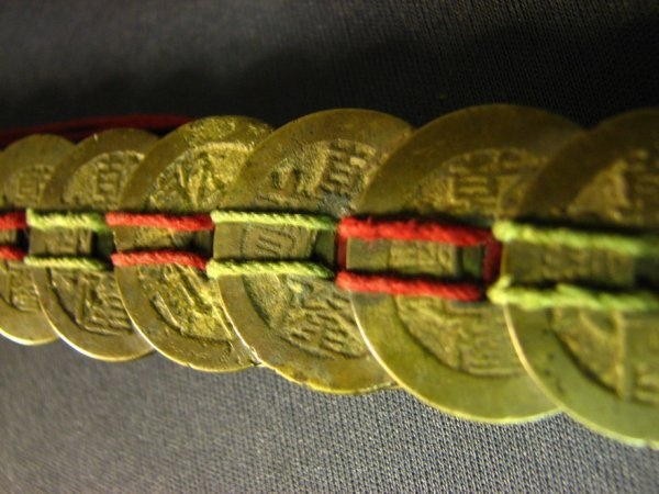 5106: CHINESE COIN SWORD APPROXIMATELY 100 COINS - 4