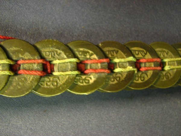5106: CHINESE COIN SWORD APPROXIMATELY 100 COINS - 8