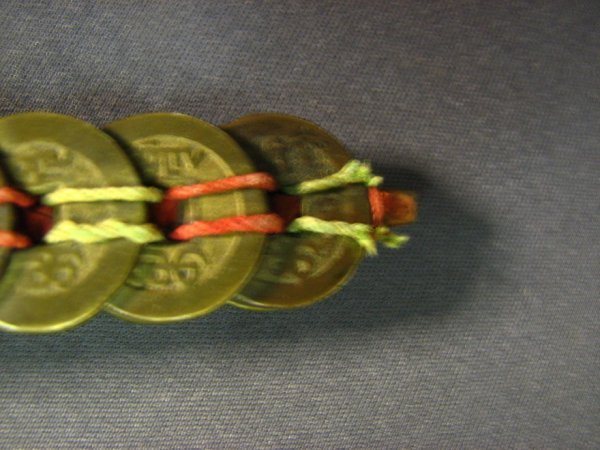 5106: CHINESE COIN SWORD APPROXIMATELY 100 COINS - 9