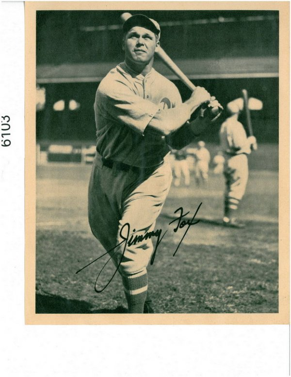 6103: 1935 BUTTERFINGER PREMIUM JIMMY FOX  HOF