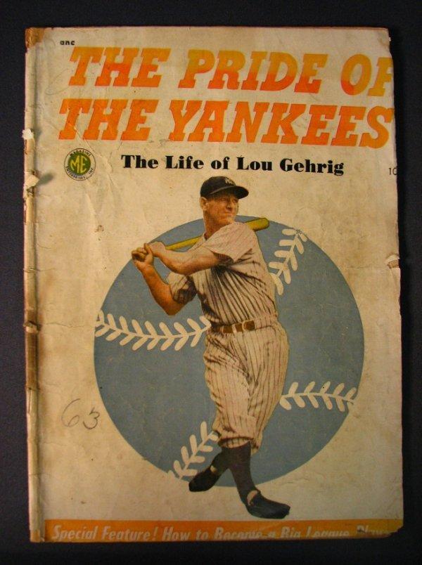 6124: 1949 PRIDE OF THE YANKEES LOU GEHRIG MAGAZINE