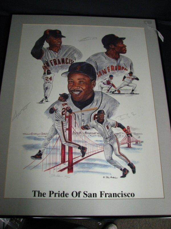 6144: AUTOGRAPHED PRINT PRIDE OF SAN FRANCISCO BASEBALL