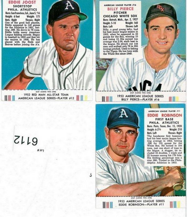 6112: THREE 1953 REDMAN TOBACCO WITH TABS