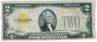 6908: 1928 U.S. TWO DOLLAR GOLD NOTE
