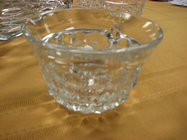 8266: AMERICAN FOSTORIA PUNCH BOWL AND CUPS   - 5