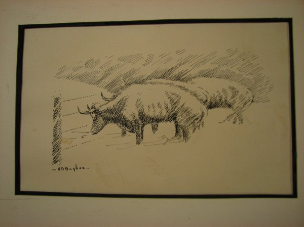103: H.D. BUGBEE PEN AND INK DRAWING