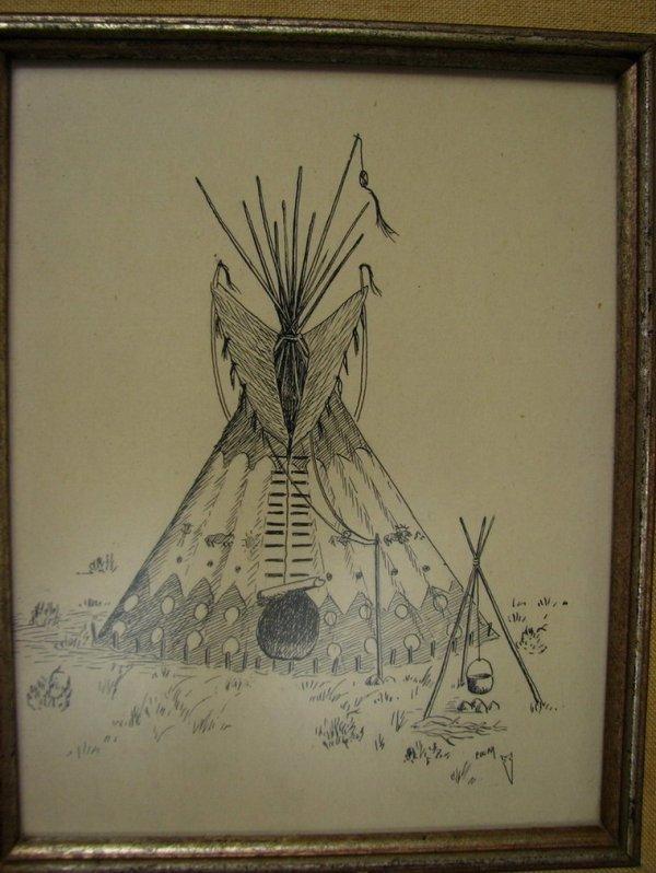113: NATIVE AMERICAN PEN & INK EDGAR