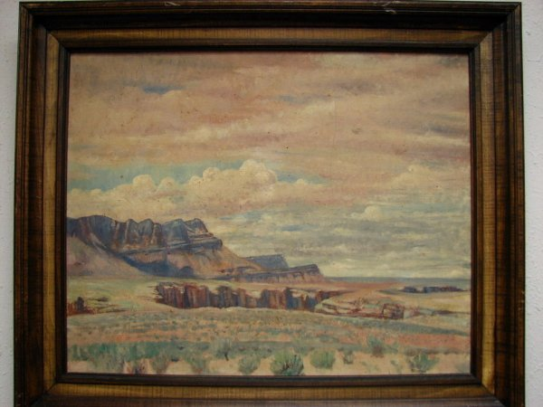 114: NORA LUCY MOWBRAY CUNDELL ARIZONA LANDSCAPE OIL