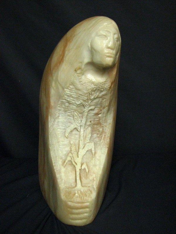 120: CORN WOMAN Alabaster Sculpture