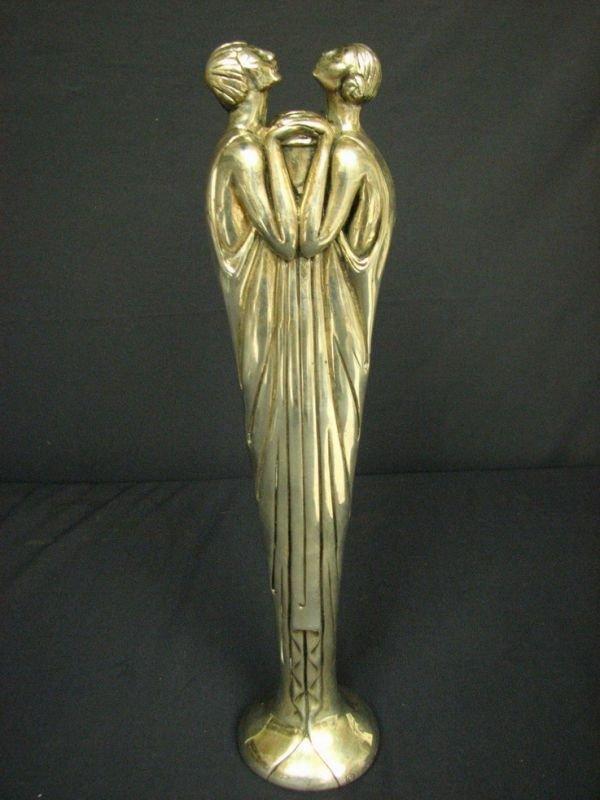 172: ERTE FLORA II Silvered Bronze Bud Vase