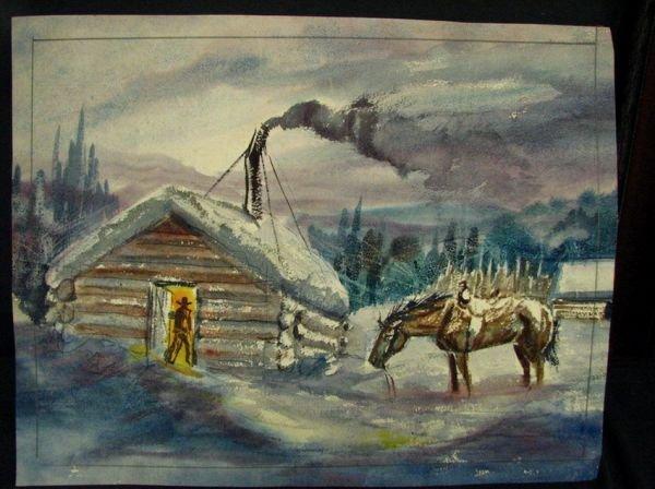 111: BEN STEELE Western Watercolor