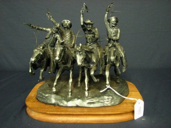 180: Coming Through the Rye Pewter Figural Grouping