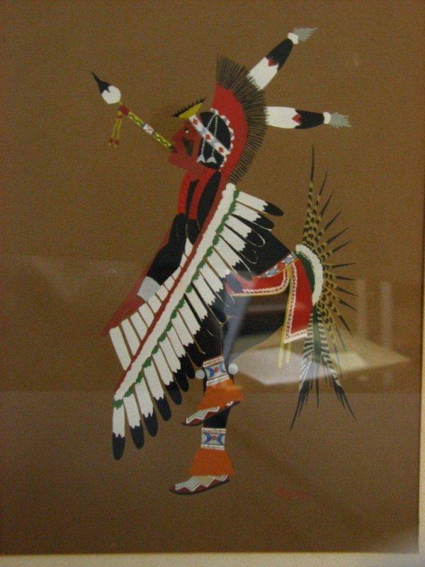 182: STEPHEN MOPOPE Fancy Dancer Silkscreen