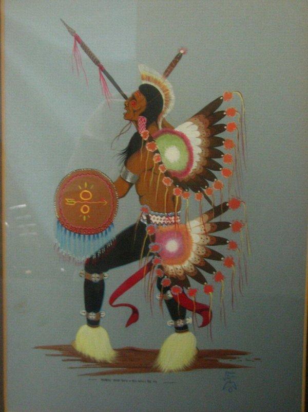183: J EAGLE Original Fancy Dancer Painting