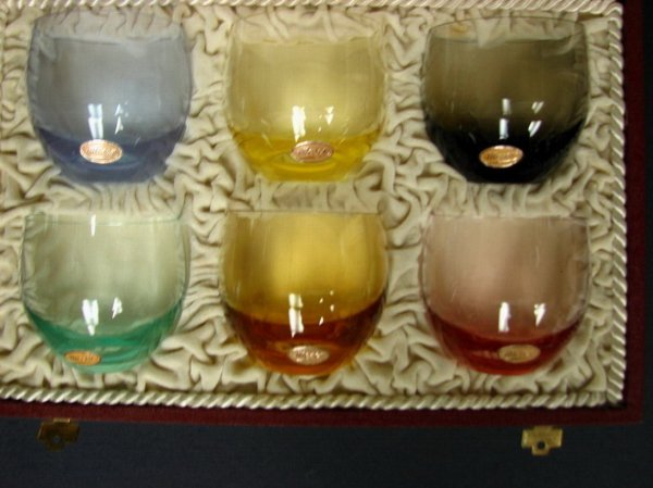 290: SET OF MOSER GLASSES IN FITTED CASE