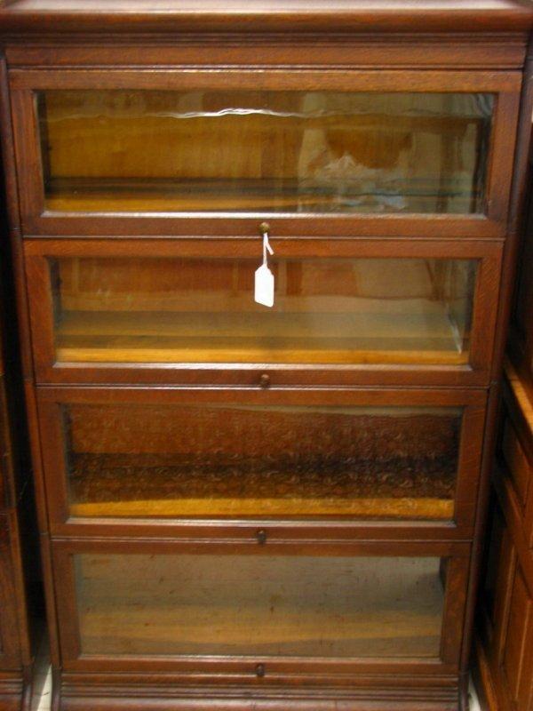 170A: Tiger Oak Four Stack Bookcase