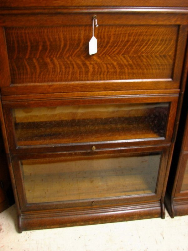 175A: Tiger Oak Stack Bookcase with Desk