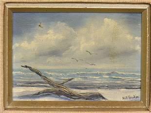 HAWKINS, NELL oil on board, Seascape