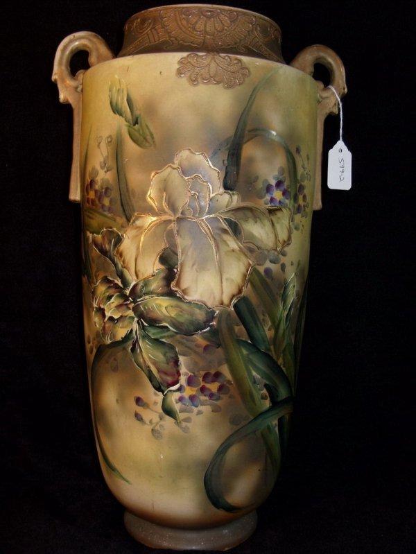 403: Large Satsuma Floral Vase