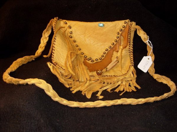 432: Native American Leather Pouch