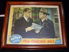 446 GENE AUTRY THE SINGING HILL LOBBY CARD