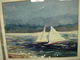 COCA BELL WATERCOLOR SAILBOATS