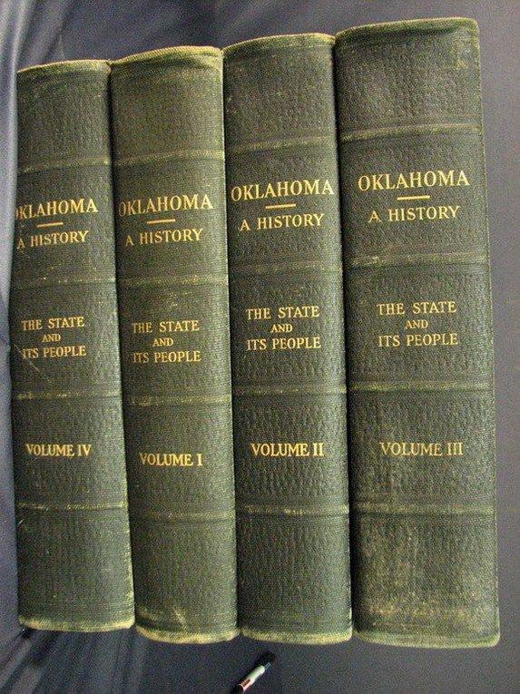 757: OKLAHOMA A HISTORY FOUR VOLUME BOOK SET