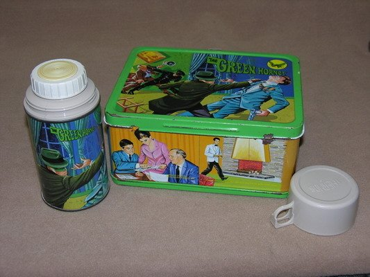 547: 1967 GREEN HORNET GREEWAY LUNCH BOX AND THERMOS