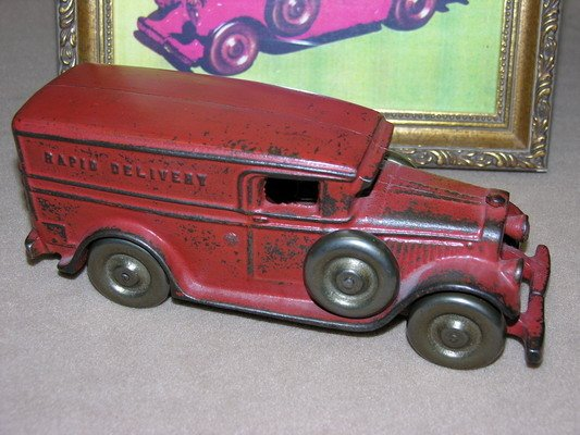 565: 1929 FREIDAG WHITE RAPID DELIVERY/PANEL TRUCK W/DR